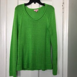 NWOT Lilly Pulitzer Scoop Neck Knit Pullover Large